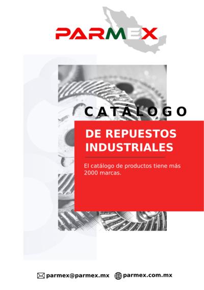 Parmex catálogo de equipos Industriales y refacciones